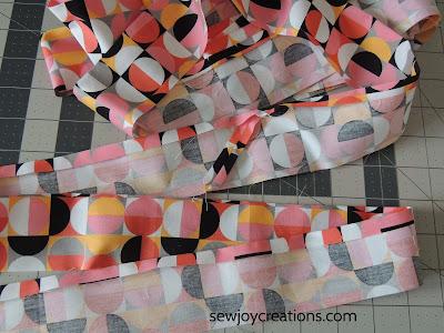 binding prep ironed seams
