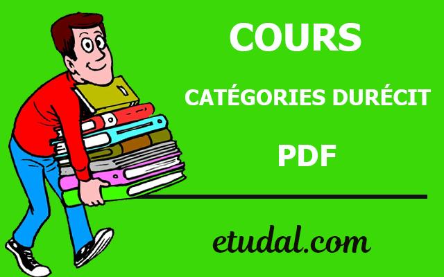 cours catégories durécit s2 pdf