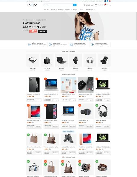 Template blogspot shop bán hàng cao cấp 2021