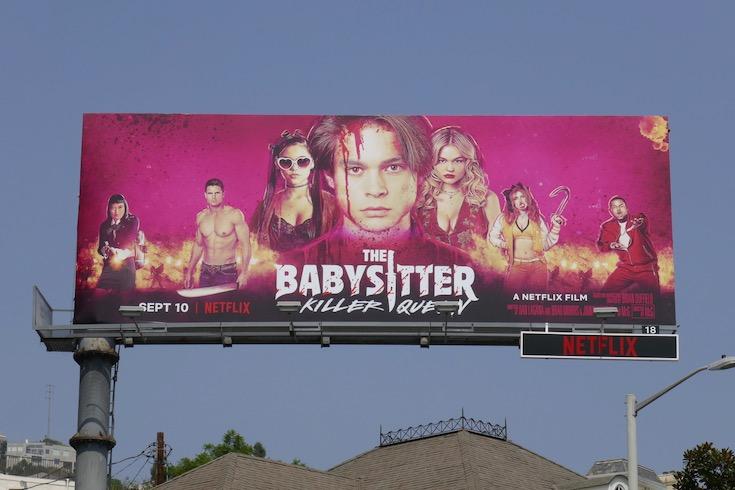 Babysitter Killer Queen movie billboard