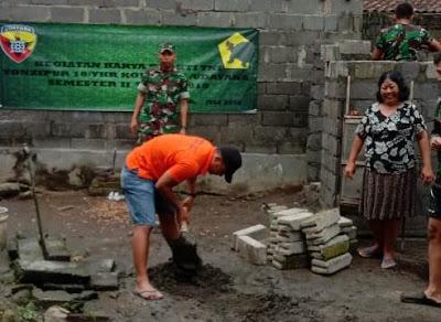 Dukung Pemerintah Wujudkan Pola Hidup Sehat, Yonzipur 18/YKR Galakkan Program Jambanisasi