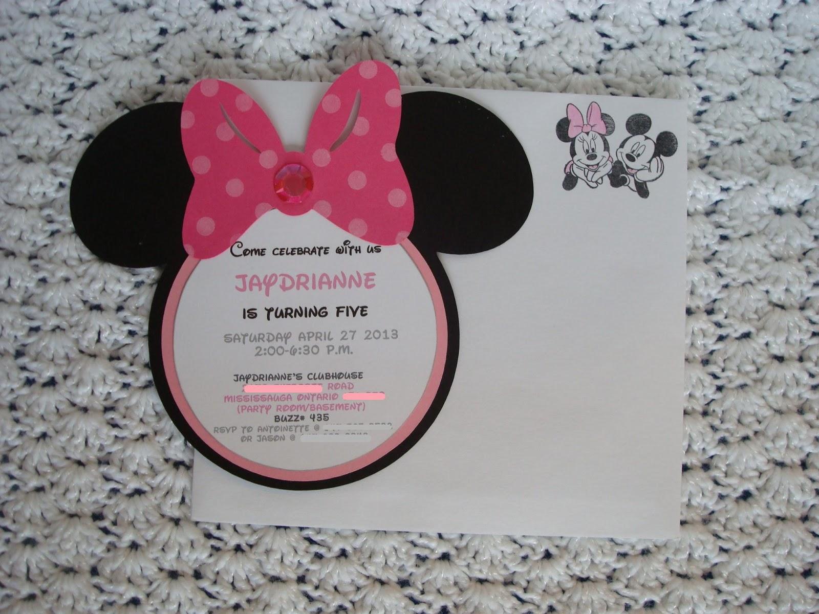 Creative Trendz Design Minnie Mouse Birthday Invitation