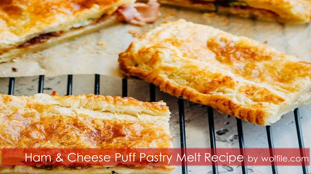 Ham And Cheese Puff Pastry Melt Recipe #Pastry
