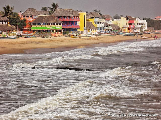 Praia em Mahabalipuram