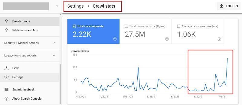 google crawl states