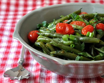 Healthy Red & Green Green-Bean Salad