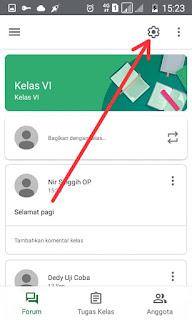 Pengaturan google classroom