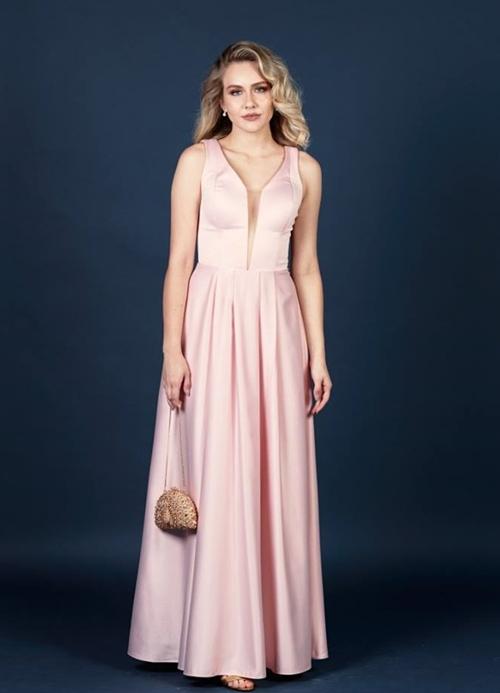 vestido longo rosa para madrinha formanda
