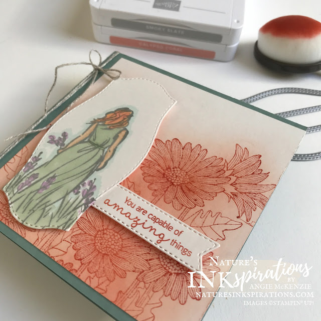 By Angie McKenzie for Stampin' Dreams Blog Hop; Click READ or VISIT to go to my blog for details! Featuring the Beautiful Moments, Daisy Garden, Hydrangea Haven, PeaZeful Moments Stamp Sets along with the Tasteful Labels Dies by Stampin' Up!; #graduationcards #diecutting #coloringwithblends #inkblending #blendingbrushes #stampinblends #stampinup #beautifulmomentsstampset #daisygardenstampset #hydrangeahavenstampset #peacefulmomentsstampset #tastefullabelsdies #playfulalphabetdies #diycrafts #linenthread #colorcoordination #stampindreamsbloghop #naturesinkspirations