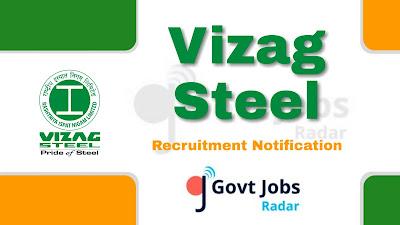 Vizag Steel recruitment notification 2019, govt jobs in India, govt jobs for iti, govt jobs for Diploma, central govt jobs