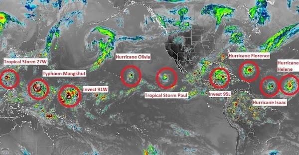 ALERTAS: Varios Ciclones Impactaran En Menos De 4 Días.