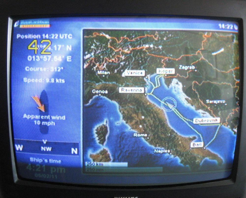 Bordinformationen über Route usw. auf dem Fernseher in der Kabine - Voyager of the Seas