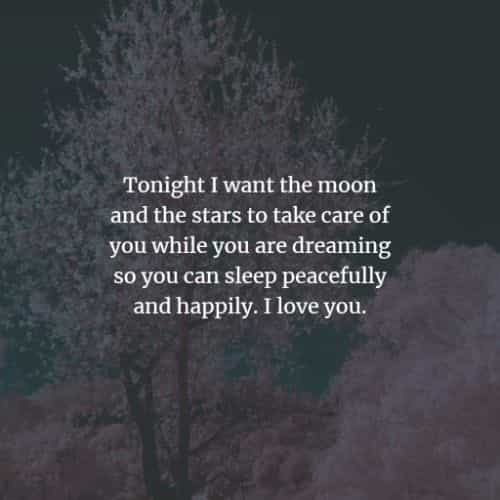 Goodnight quotes and sayings for him and her