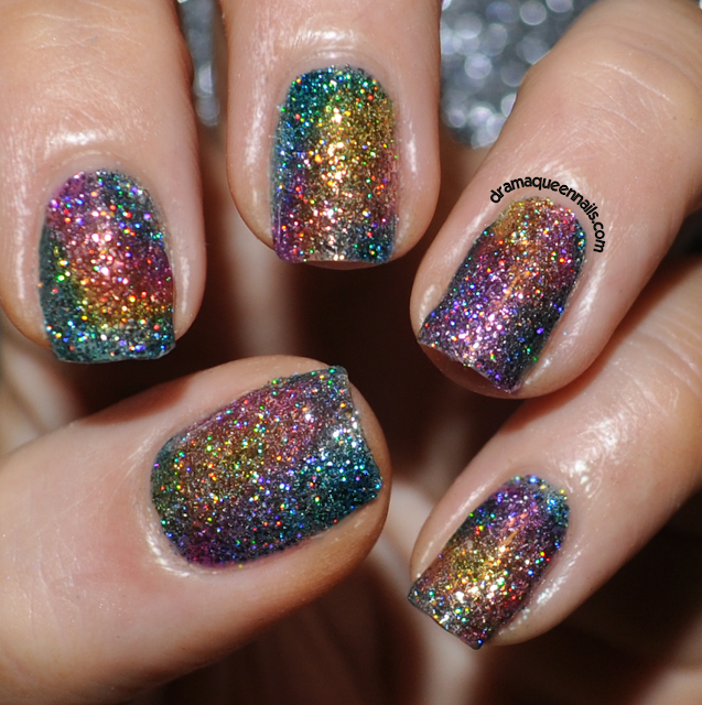 Glitter Nail Polish Rainbow: Drama Queen Nails: Rainbow Sparkle Nails With Fun Lacquer