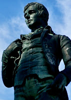 Robbie Burns Statue in Fredricton, NB