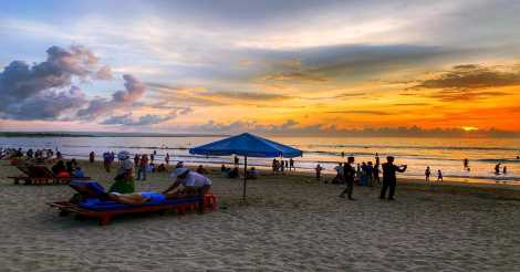 Beach Sunset di Pantai Kuta