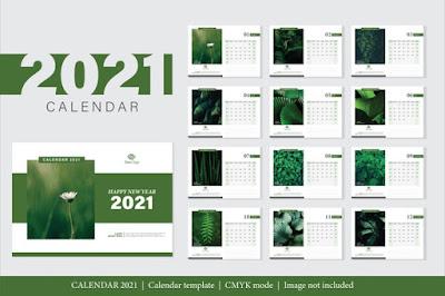 desain kalender 2021