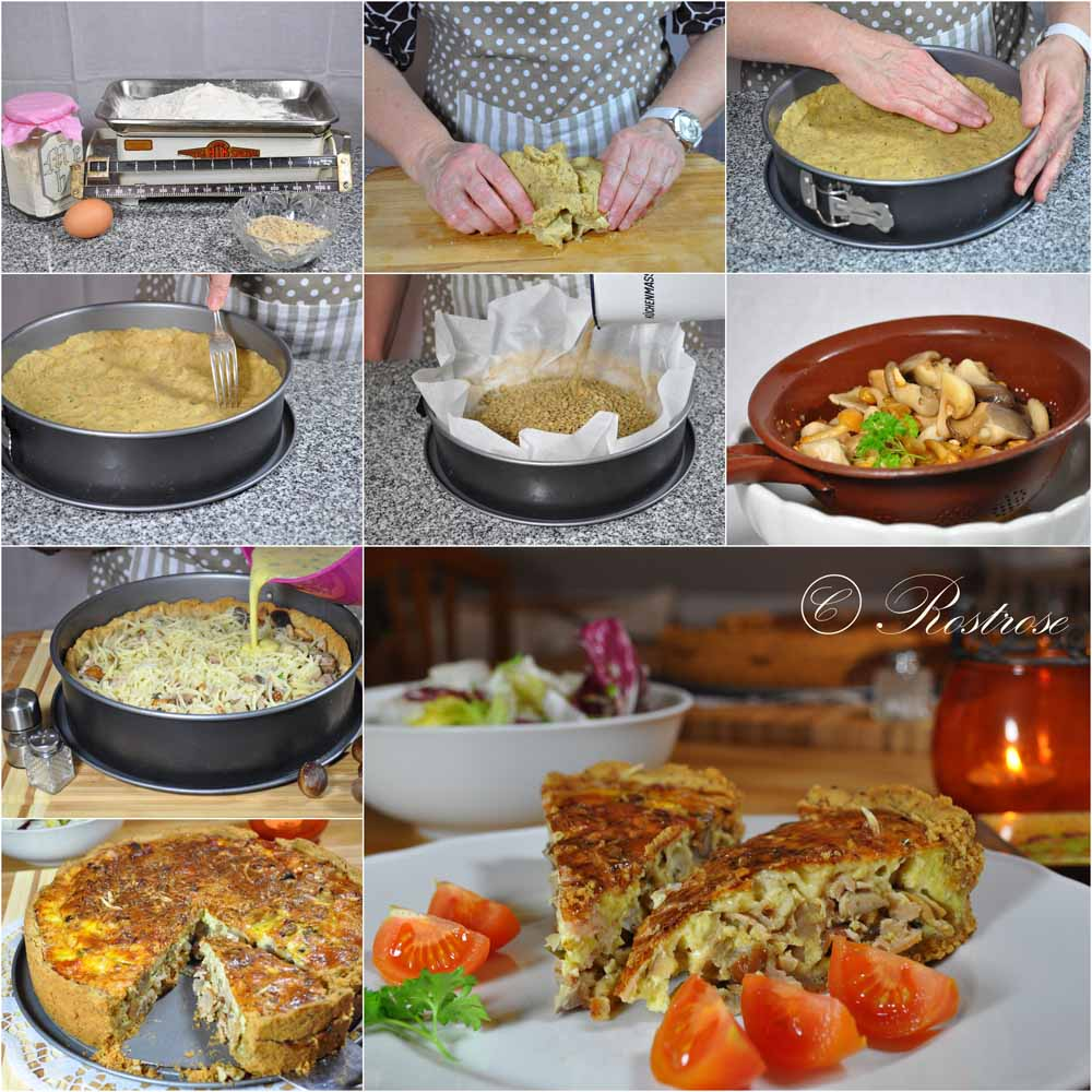 rostrose herbst rezept quiche lorraine mit pilzen und. Black Bedroom Furniture Sets. Home Design Ideas