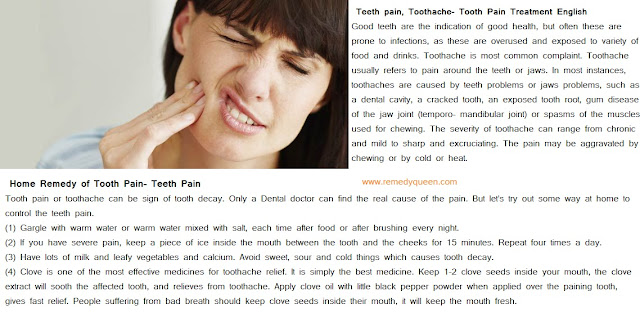 Teeth pain remedy