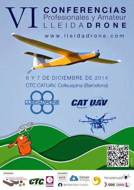 Y este sábado ya llegan las VI Conferencias Profesionales y Amateur de @LleidaDrone en Moià (Barcelona) #uav #uas