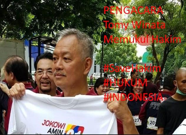 Pengacara Tomy Winata Pukul Hakim Sampai Masuk Rumah Sakit