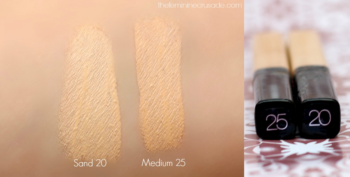 Maybelline Fit Me Concealer (swatches)