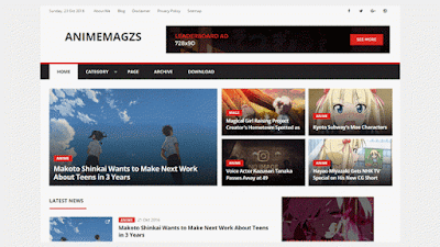 Anime magzs Blogger template