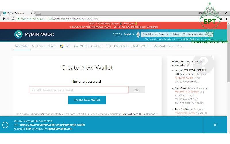 How To Create Ethereum Wallets And ERC-20 Tokens In MyEtherWallet?