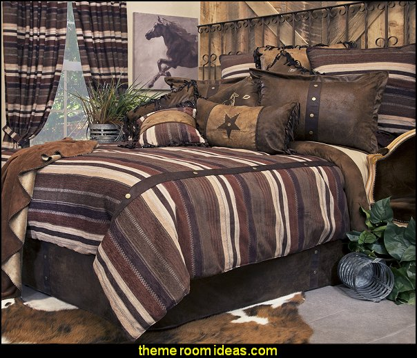 Old West Stripe by Carstens Lodge Bedding   cowboy theme bedrooms - rustic western style decorating ideas - rustic decor - cowboy decor - Cowboy Bedding Western bedroom decor - horse decor - cowboy wall murals horse wall murals