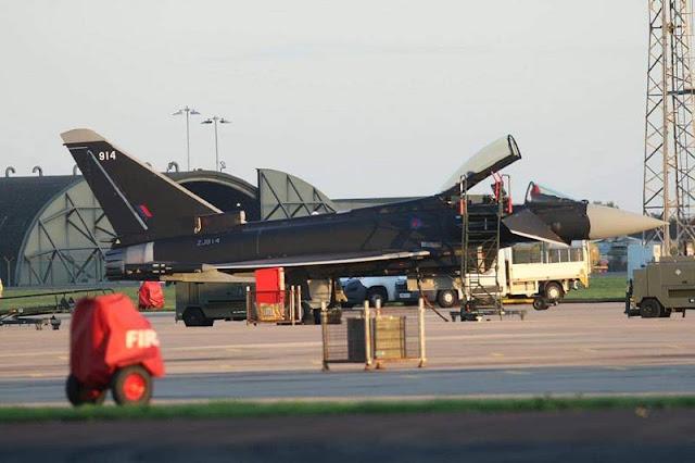 RAF Aggressor black Typhoon