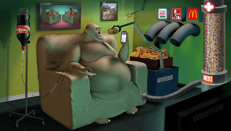 This Artwork Is Probably The Most Accurate (And Scary) Portrayal Of Modern Life We've Ever Seen - 'EVOLUTION'