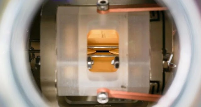 Physicists film the quantum transition of an atom