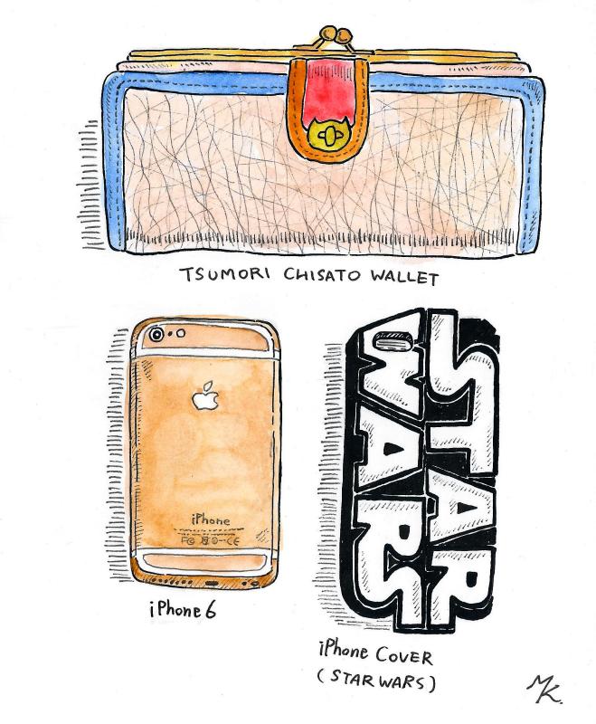 財布とiPhone