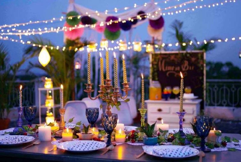 idee decor cena in terrazza