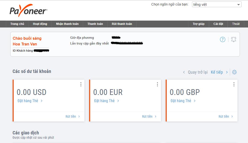 Hướng dẫn đăng ký tài khoản Payoneer để nhận tiền từ Adsense