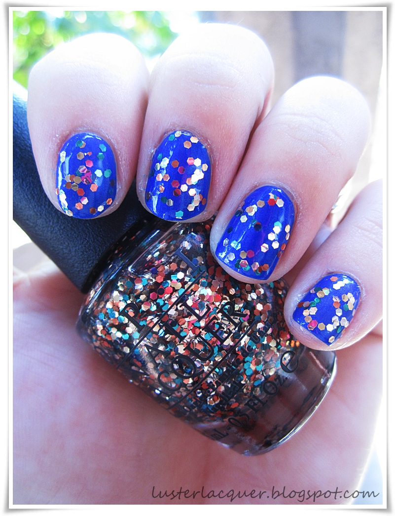Luster Lacquer Abstract Nail Art: The Living Daylights
