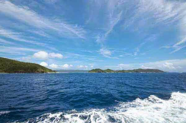 Kerama Islands view from the sea