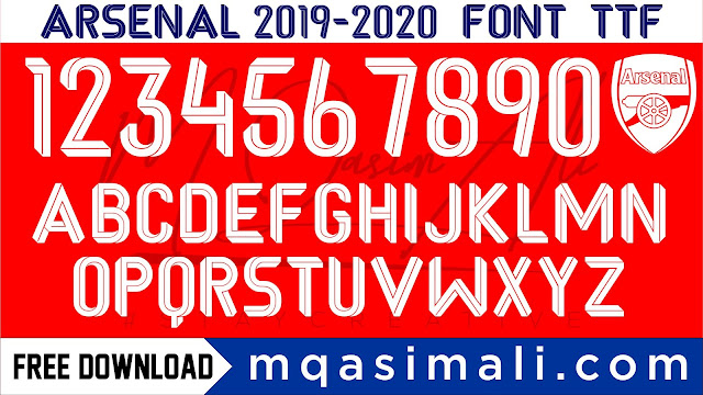 Arsenal 2019-20 Football Team Font Free Download by M Qasim Ali