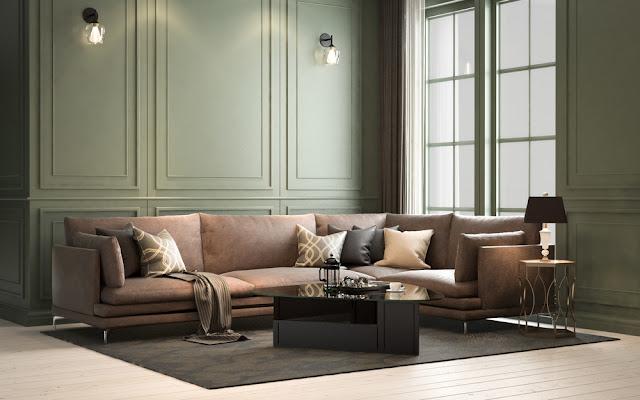 klassiek, interieur, kleuren, behang, verf, belichting, decoratie