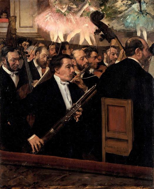 Эдгар Дега - Оркестр в опере (ок.1870)
