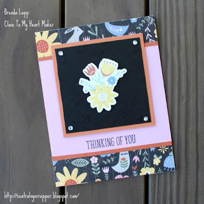 card created with Hillside Garden & HG Cardmaking Workshop Stamp Set