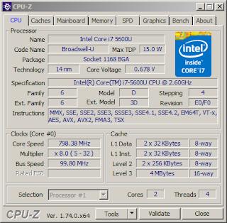CPU-Z i7-5600U