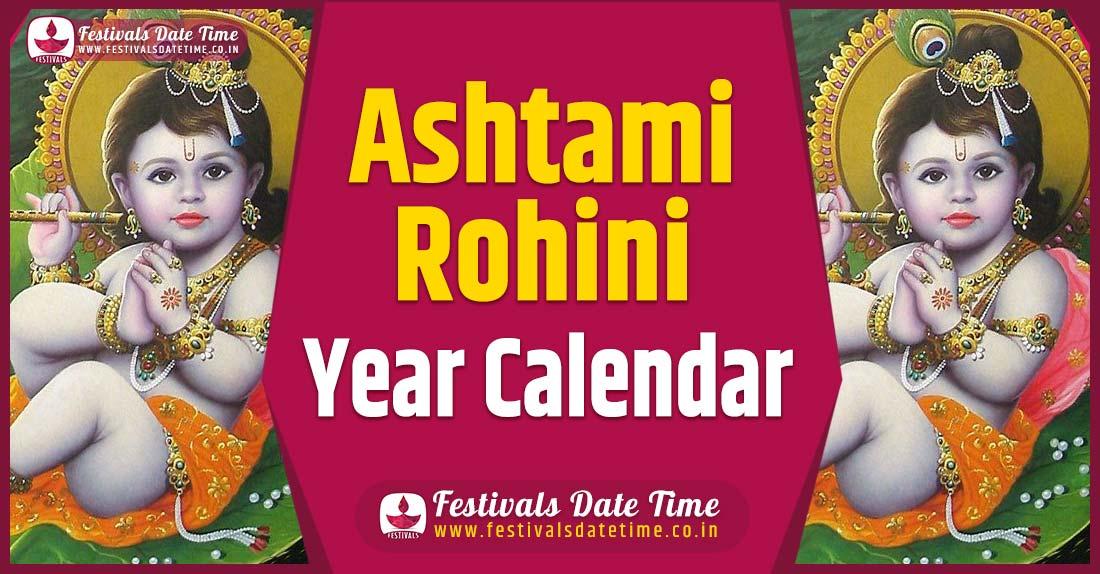 Ashtami Rohini Year Calendar, Ashtami Rohini Festival Schedule