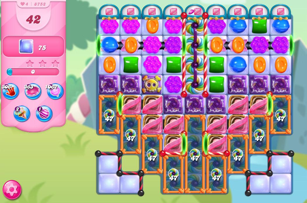 Candy Crush Saga level 8752