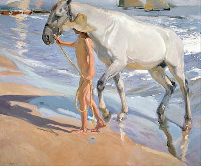 "Joaquín Sorolla, ""El baño del caballo"", 1909"