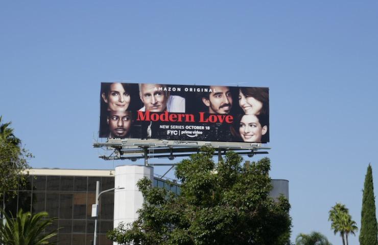Modern Love Amazon series billboard