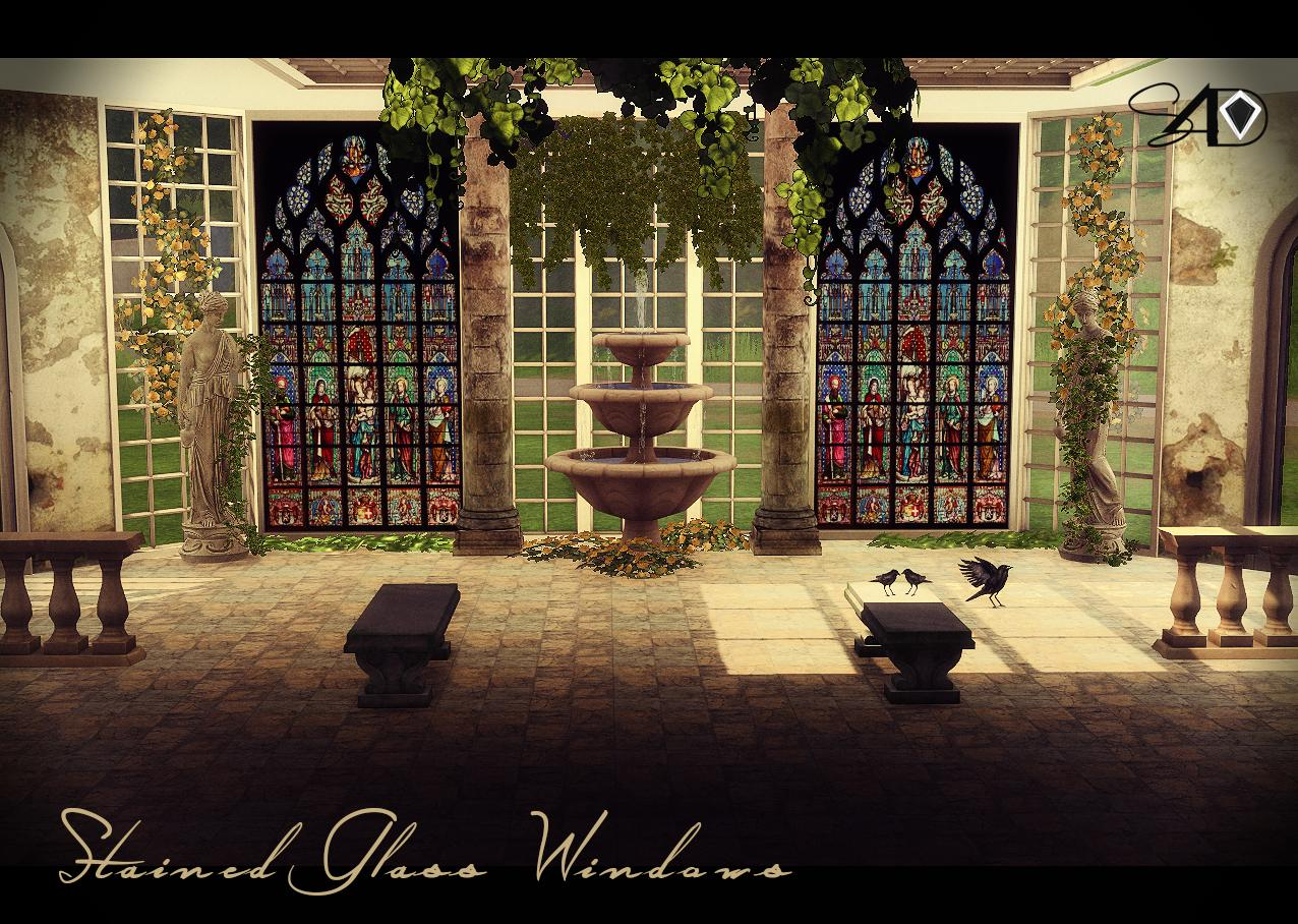 My Sims 4 Blog 22 Stained Glass Windows By Daer0n
