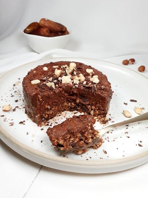 TARTE CHOCOLAT DATTES SANS CUISSON (sans gluten - vegan)