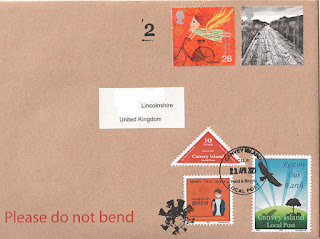 Example of mail carried by Canvey Local Post