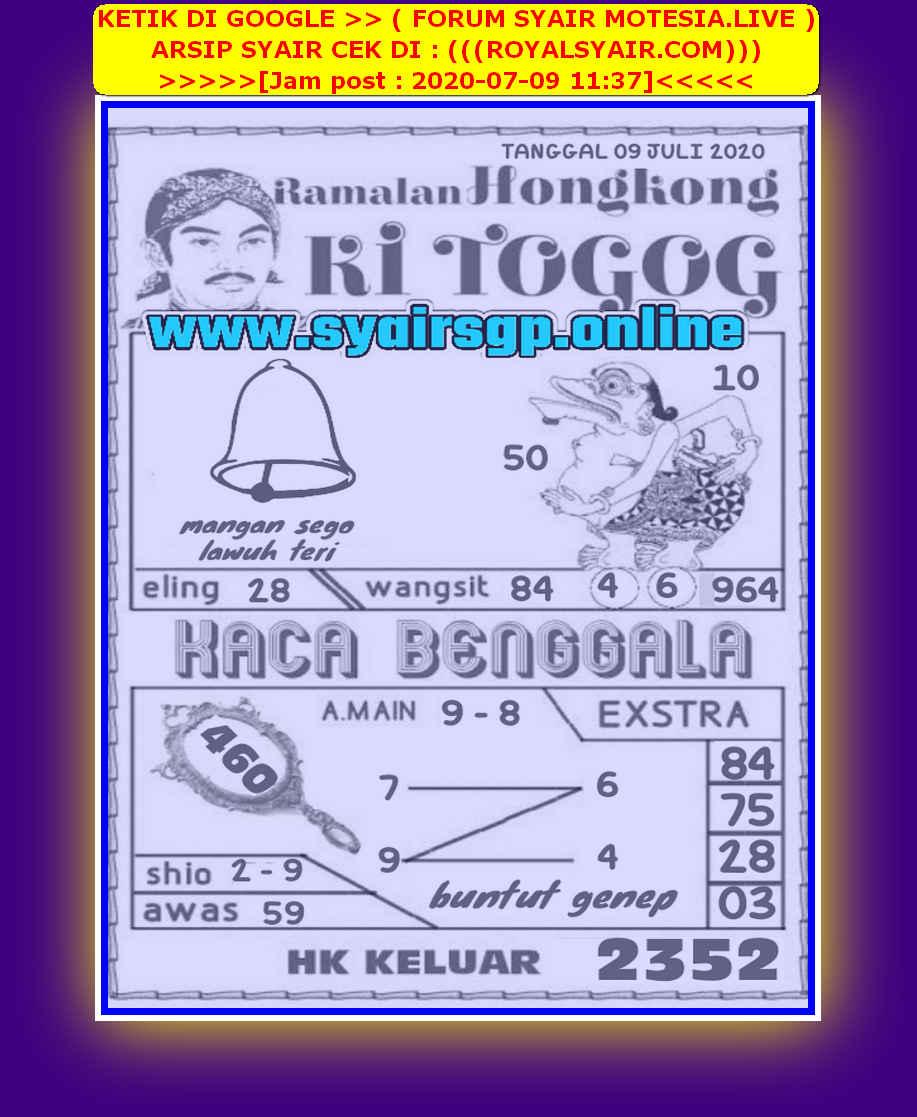 Kode syair Hongkong Kamis 9 Juli 2020 243